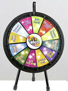Black Mini Prize Wheel Game With Case Great For Trade Show Events