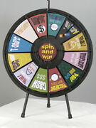12 Slot Table Top Prize Wheel Game With Case Great For Trade Shows Events