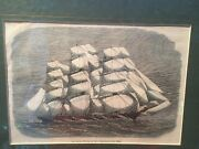 Antique 1867 Copper Engraving The Ariel China Ocean From Map House London 1867