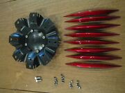 Voo Doo Series 415 Flat Black W/ Red Spear Inserts 3267 Complete Kit As Shown