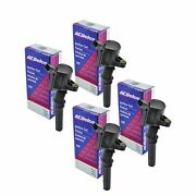 Set Of 4 Acdelco Ignition Coil 00bs2002 For Ford Lincoln Mercury 1997-2016