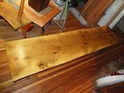 Handmade Live-edge Magnolia Bench With Forged Steel Legs 20 1/4 X 83 1/2