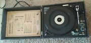 Vintage Beckley Cardy Portable Phonograph Turntable Record Player 322-487 Rare