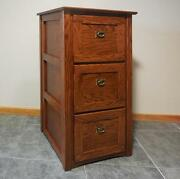 Authentic Mission 3 Drawer File Cabinet Solid Oak 330