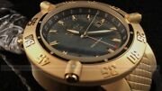 Menand039s 50mm Subaqua Noma Iii Swiss Made Quartz Gmt Gold Poly Strap Watch