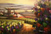 36x4892x122cm100hand Painted Oil Flat,landscape,farm, Country,high Quality