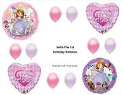 Sofia The First 1st Princess Happy Birthday Party Balloons Decorations Supplies