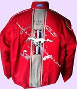 Jacket-blouson-jaquette .mustang Sport Red. Racing Team All Logo In Brodery