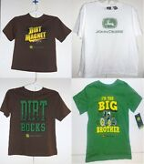 John Deere Boys T-shirts 4 Choices Sizes 4 6 7 And 10-12 Nwt