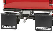 Rock Tamer Mud Flaps Universal Fit 2.5andrdquo Receiver Hitch Adjustable Removable 110