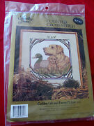 Something Special Golden Lab Dog And Decoy Counted Cross Stitch Nip 14x14 Usa