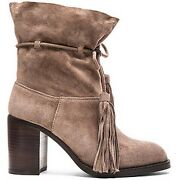 New Womenand039s Ankle Boot-jeffrey Campbell-la Forge-fringe Tassel-taupe-us 7