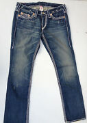 True Religion Jeans And039johnny Big Tand039 Indigo Euc Rrp 479 Womens Size W30 L34