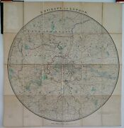 Antique Maps, Groom's New Map Of County Round London C. 1880