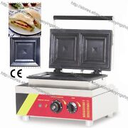 Commercial Nonstick Electric 2 Slice Sandwich Toaster Press Maker Machine Grill