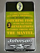 Johnson Outboard Motor Sign Pre-bankruptcy Vintage Its About Reliability... B