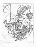 Antique Maps Untitled World Map Viewed From The North Pole Scherer 1710