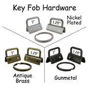Key Fob Hardware With Key Rings - Pick Quantity, Size And Finish - Free Shipping