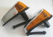 1970-1979 Vw Bug Super Beetle Amber Front Turn Signals Assembly Pair Left Right