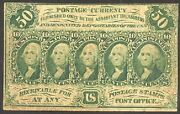 Pc16 Fr1313 Postage Currency With No Abco Cv 550 Bt2927