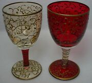 Pier 1 Crystal Rioja P1c8 Pattern 3-ounce Wine Glass Set Of Two 2 - 4-1/8