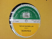 Bbc 218 Transcription Disc Top Of The Pops Pink Floyd Jethro Tull Marmalade