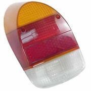 Vw Bug Rear Tail Light Lens 68-70 Amber/red Style Ea