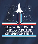 1982 Worldwide Video Arcade Championships T-shirt Color Ink Version Pixels Movie