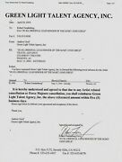 Robert Funderburg Signed Mary Jane Girls Appearance Contract Green Light C