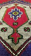 Beautiful Indigo Blue Antique 1900-1930s Wool Pile Tribal Area Rug 4and0393 X 8and039