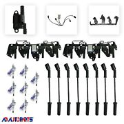 Coil Package 8 Coils+ 8 Oem Sp Plugs+ 8 Sp Plug Wires+ 2 Bracket+ 2 Harness