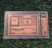 2005 Prime Cuts Babe Ruth Timeline Material Game Used Bat /50 Pop 1 Bgs 9.5