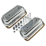 Vw Bug Bus Ghia Bolt On Engine Valve Cover Set Pair Finned Hardware And Gaskets