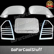 For 05-07 Chrysler 300c Mirror+taillight+gas Cap Chrome Abs Covers