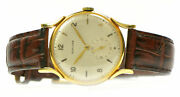 Vintage Glycine 18k Yellow Gold 1950s Manual 35mm Rare Watch