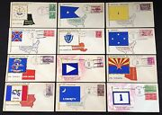 32 Diff Mae Weigand Handpainted Cachet U.s. Commissioned Wwii Ships Pahv529