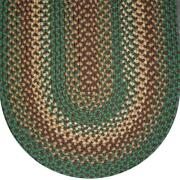 Seafoam Green Basket Weave Braided Area Rugs By Colonial Rug--many Sizes 130