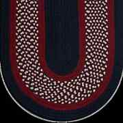 Navy Brick Red Cream Braided Area Rug And Runner Many Sizes Available