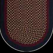 Navy Burgundy Camel Braided Area Rug And Runner Many Sizes Available