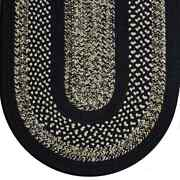 Black Beigecream Tweed Braided Area Rugs By Colonial Rug-many Sizes 141