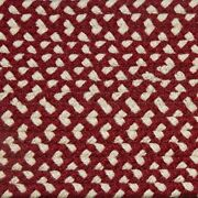 Brick Red And Cream Check Braided Area Rug And Runner Many Sizes Available