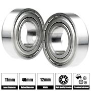 2x Ss6203-zz Ball Bearing 17mm X 40mm X 12mm Metal Sealed Stainless Steel New