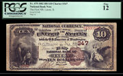 10 1882 Bb The First National Bank Of Lacon Illinois Pcgs 12 Tough Brown Back