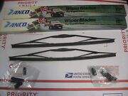 Vintage 70and039s 80and039s Anco 31-15 Black Steel Frame Import Car Wiper Blades Nos Pair