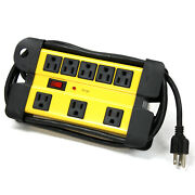 Hd Ul 8 Way Electrical Outlet Wall Plug Metal Power Strip Extension Cords