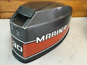 81 Mariner 30 Hp 2 Cylinder Outboard Hood Top Cowl Cowling Shroud Freshwater Mn