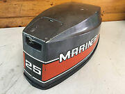 80 S Mariner 25 Hp 2 Cylinder Hood Top Cowl Cowling Shroud Freshwater Mn