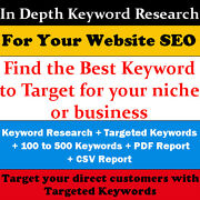 In Depth Keyword Research For Your Website Seo - Website Traffic- Seo Targetting