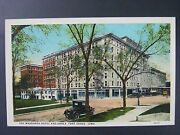 Fort Dodge Wahkonsa Hotel And Annex Old Cars Iowa Antique Color Postcard 1920s