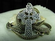 Sterling Silver Cross Pendant 925 Pendent With Chain 17 Long Religious